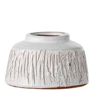 Retro Vase 6x6,5 cm Strek Hvit terrakotta