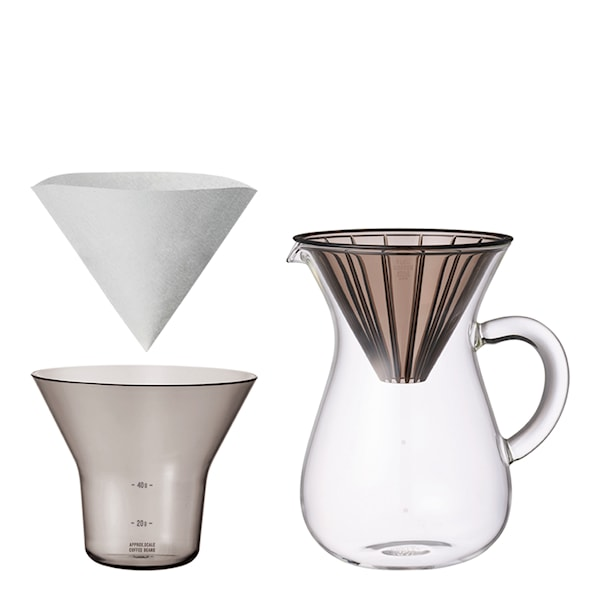 Slow Coffee Bryggset 600 ml plast