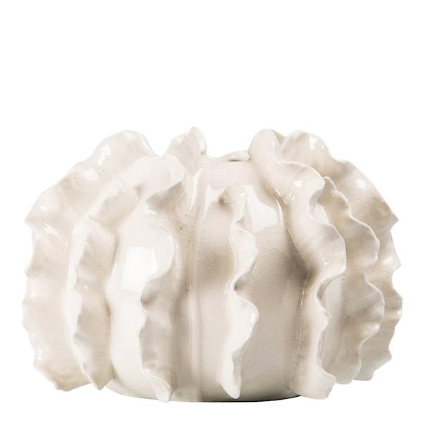 Coral Vas 18x14 cm Vit keramik