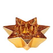 Ljushållare Stjärna 10 cm Guld