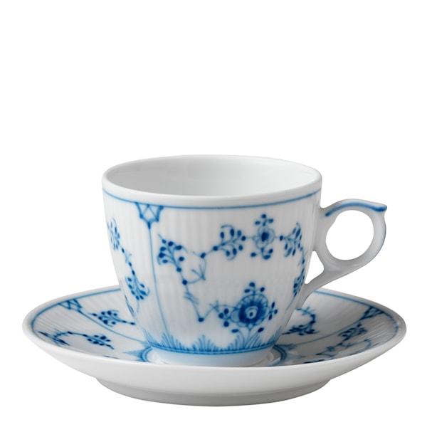 Blue Fluted Plain Espressogods 10 cl