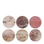 Glasunderlägg Marmormönster 6-pack