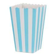 Popcornbox ljusblå ränder 6-pack