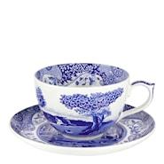 Blue Italian Jumbokopp m/skål 56 cl