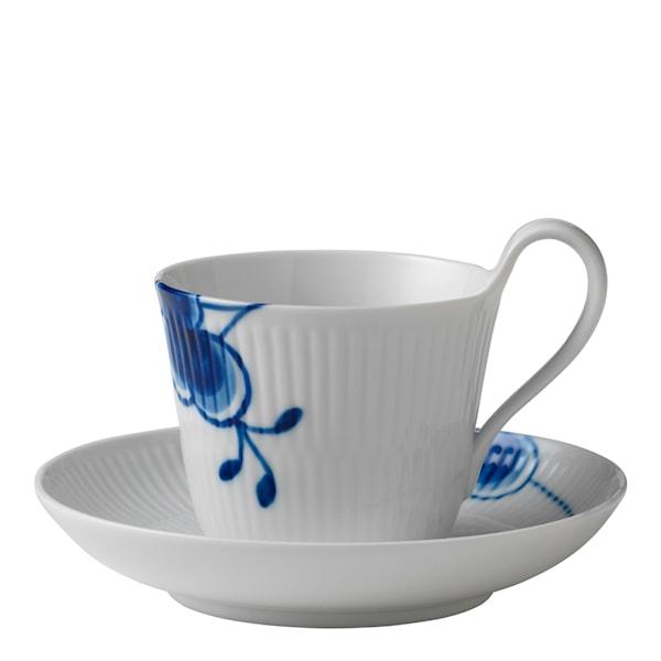 Blue Fluted Mega Kaffegods 25 cl hög hank