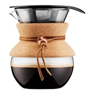Pour Over Brygger 0,5 L/4 kopper filter/kork