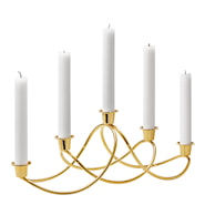 Harmony Ljusstake 5 ljus Guld