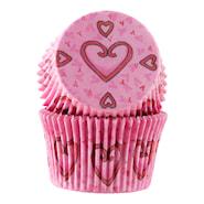 Form 6 cm hjärta rosa 30-pack