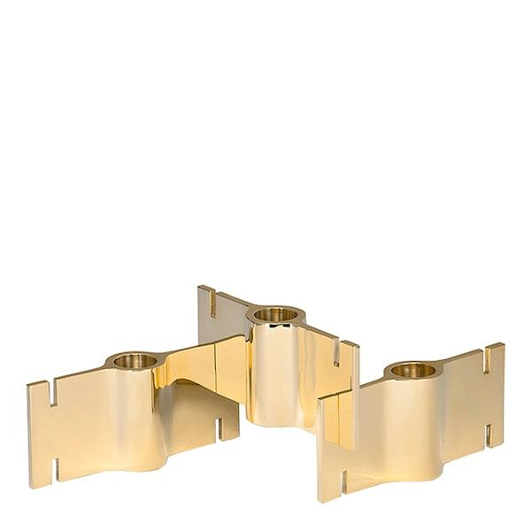 Brick Ljusstake Mässing 3 delar 12,7 cm
