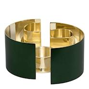 Infinity Ljuslykta 3 delar Grön 6 cm