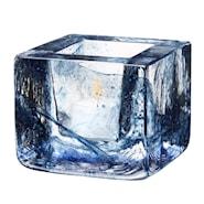 Brick Ljuslykta h7,5cm Blå