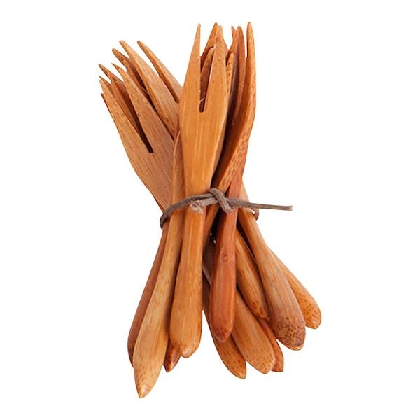 Bamboo Gaffel 9 cm 12-pack