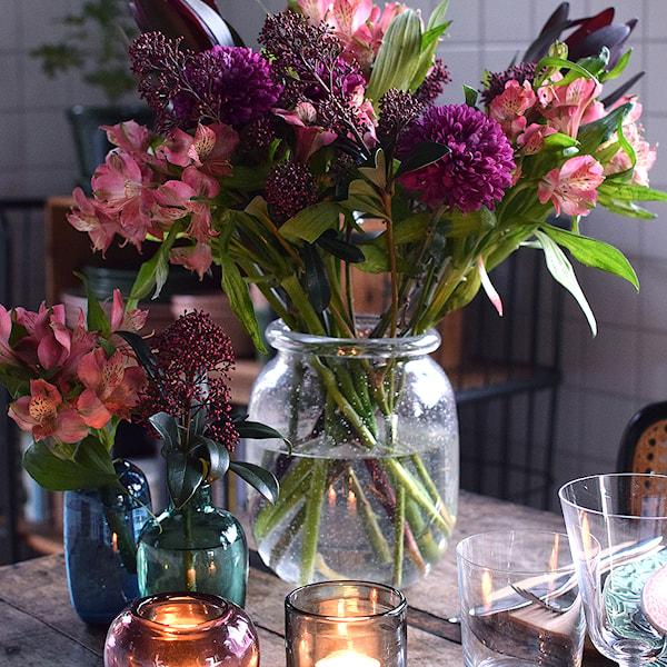 Celebration Vas Rullkant Glas Klar 19 cm