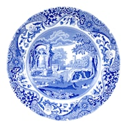 Blue Italian Tallrik flat 20 cm