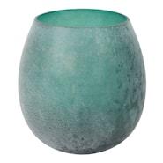 Lone Lysholder 11,5x11,5 cm Grønn glass