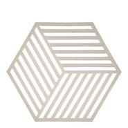 Hexagon Grytunderlägg Silikon Varmgrå 16 cm