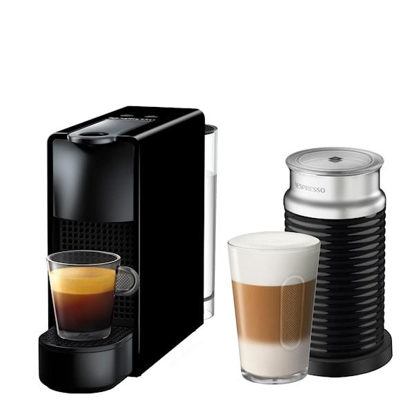 Essenza Mini C30 Kaffemaskin Svart + Aeroccino mjölskummare