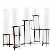 Testtube Vas med 5 glastuber 20x11x16 cm