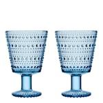 Kastehelmi Glas på fot Aqua 26 cl 2-pack