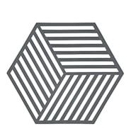 Hexagon Grytunderlägg Silikon 16 cm Grå