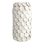 Dot Vas 30 cm Vit keramik