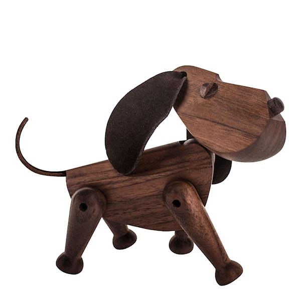 Bobby Hund 13 cm valnöt