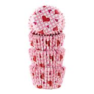 Form 3 cm hjärta rosa 100-pack