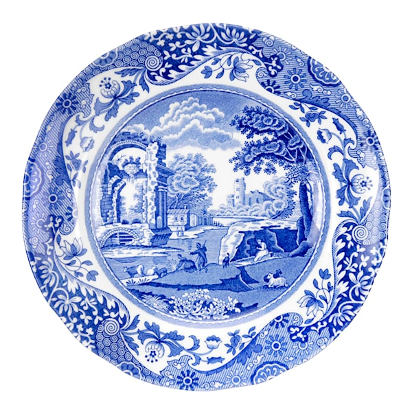 Blue Italian Tallrik flat 15 cm