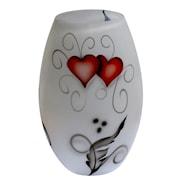 Crystal Ink Vase 20 cm Heart