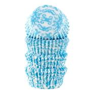 Form 4 cm blå brokad 100-pack