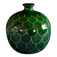 Misty Vas rund Grön emerald 25 cm