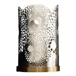 Bohinc Feather Ljuslykta Silver 14 cm
