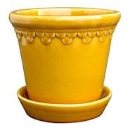 Köpenhavner Kruka/fat 18 cm Gul amber