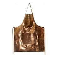 Förkläde Läder med dragkedja Guld