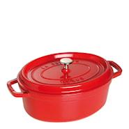 Gryte 4,2 L oval Rød