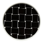 Basket Tallrik flat 20 cm Svart/vit