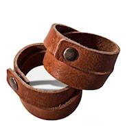Gysinge Servettring Brun Läder 2-pack
