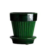 Simona Kruka/fat Grön emerald 14 cm
