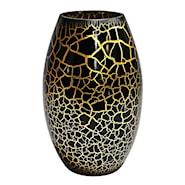 Croco Vas Svart/Guld 26x16 cm