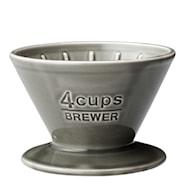 Slow Coffee Filterholder 4 kopper porselen