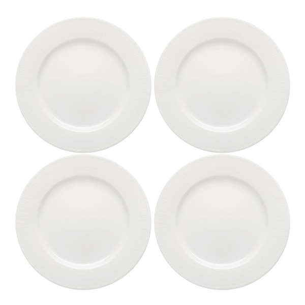 Swedish Grace Tallrik flat 17 cm 4-pack Snö