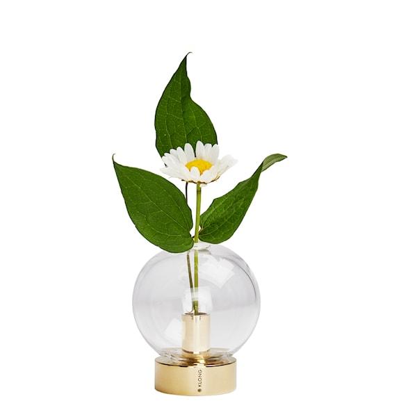 Orbis Vas Glas/Mässing 8x7 cm